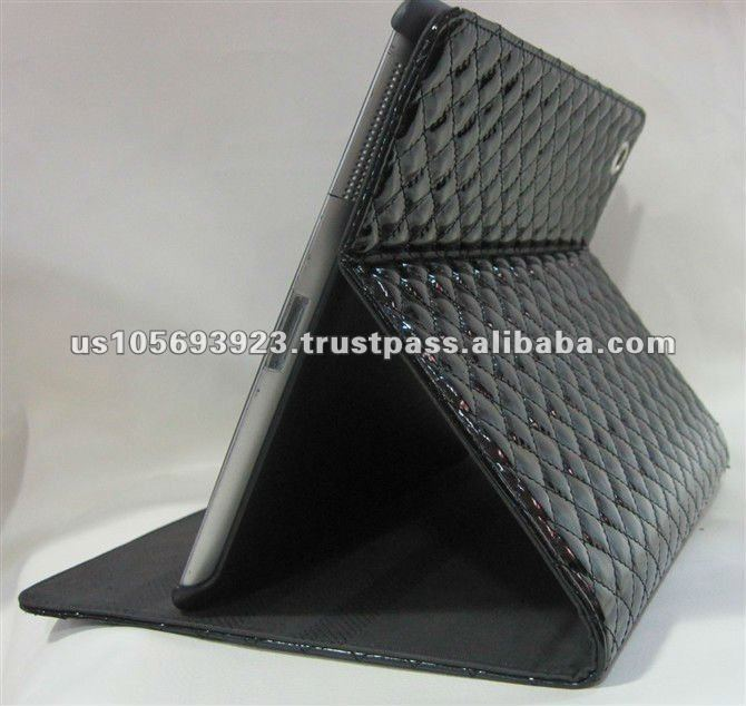Folio Leather Case for Apple iPAD 3 A Stand Pouch Holster Cover wake/sleep