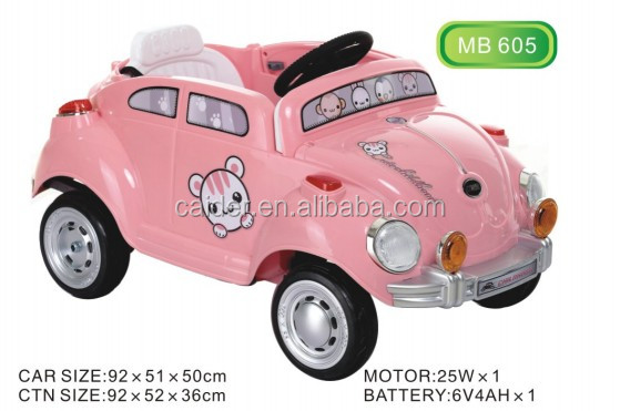 2016 hot sale cheap battery kids car/mini car, lovely pink design