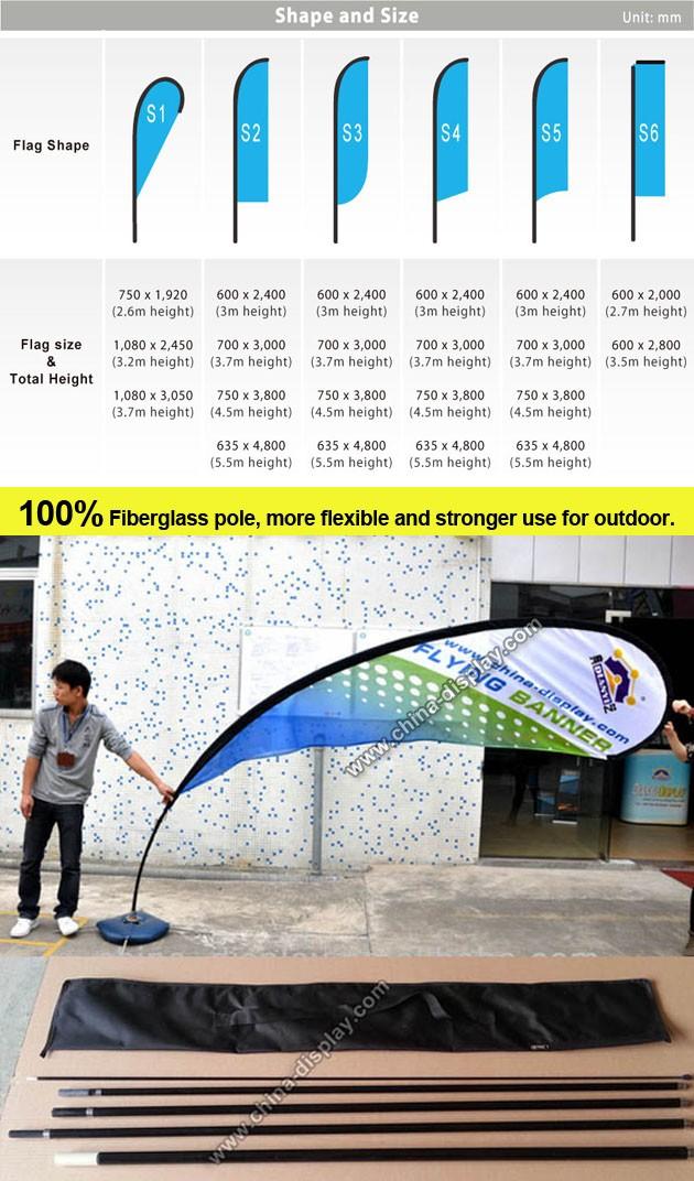 hot sale advertising outdoor portable flag pole base