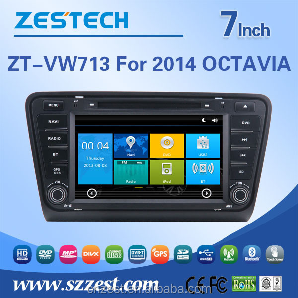 touch screen car dvd player for skoda octavia navigation dvd with bluetooth tv multimedia