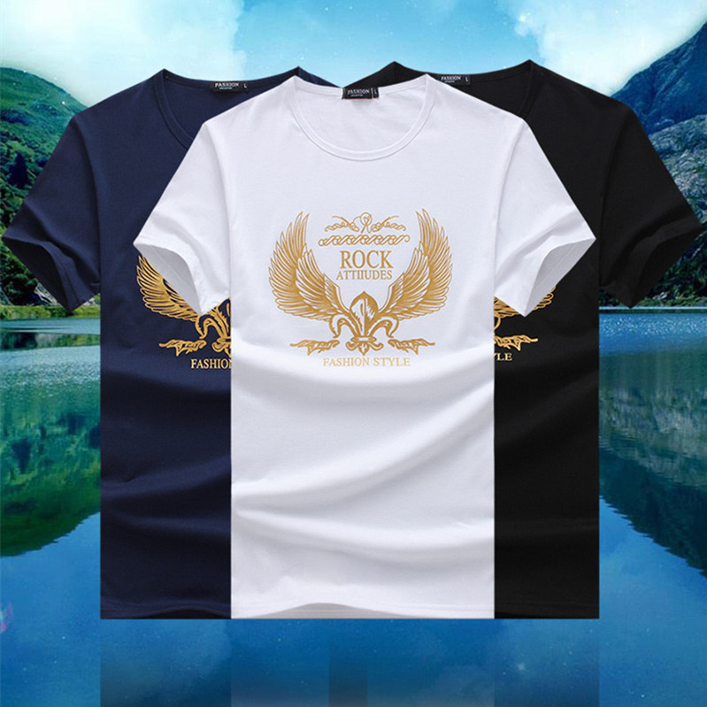 2018 new model 1 dollar t shirts plain t shirts shining gold printing mens clothing wholesale china for men