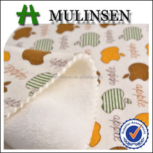 Mulinsen Textile Polyester Cotton Spandex Velvet Printed Velour Knit Fabric For Winter