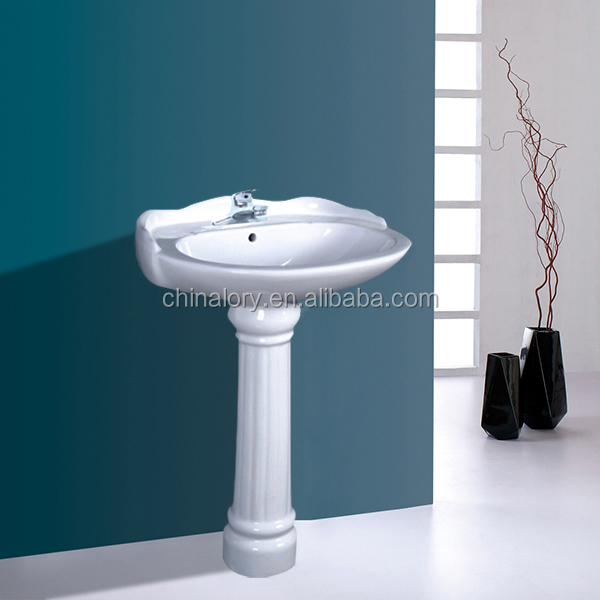 AAA quality small bathroom furniture round column pedestal sink