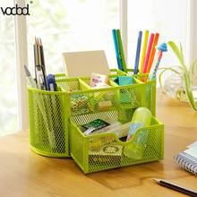 Офисный органайзер для хранения, 9 ячеек, металлический стол, сетка, настольный карандаш, ручка для мелочей, держатель для бейджа, коробка, ка...(Китай)