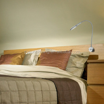 Led Headboard Reading Light Wall Mounted For Book Bed Flexiable Lamp