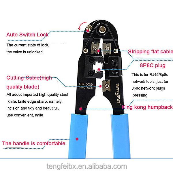 crimping tool for rj45 keystone jack network cable crimping tools rj45 utp cable crimping tool. Black Bedroom Furniture Sets. Home Design Ideas