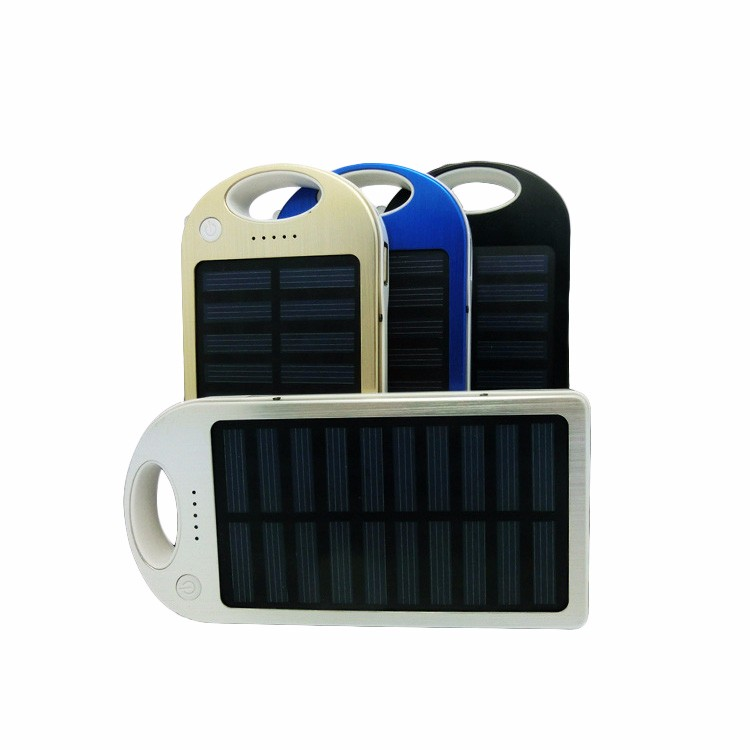 Emergency mobile phone charger portable power bank station 6000mah solar power station