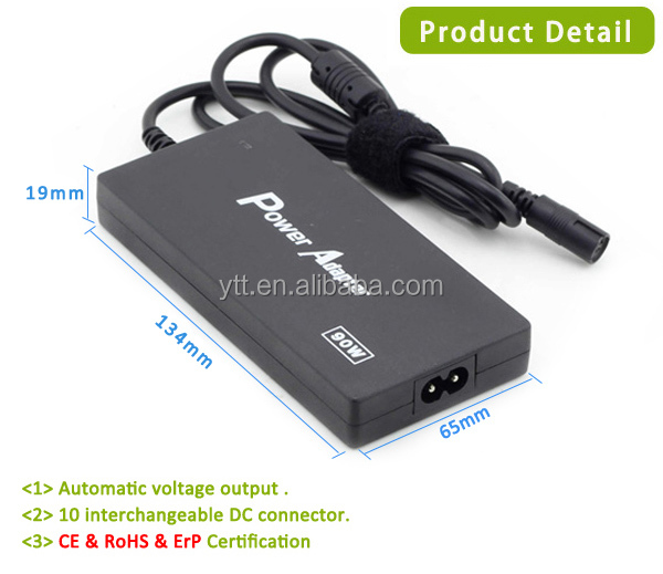 90w Slim Universal Dc Output Type Laptop Adapter Euro Power Cord ...