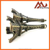 fashion metal alloy Eiffel tower souvenir for travel gift items