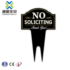 Plastic Traffic Road Sign Yard Road Safety Signs No Soliciting Sign