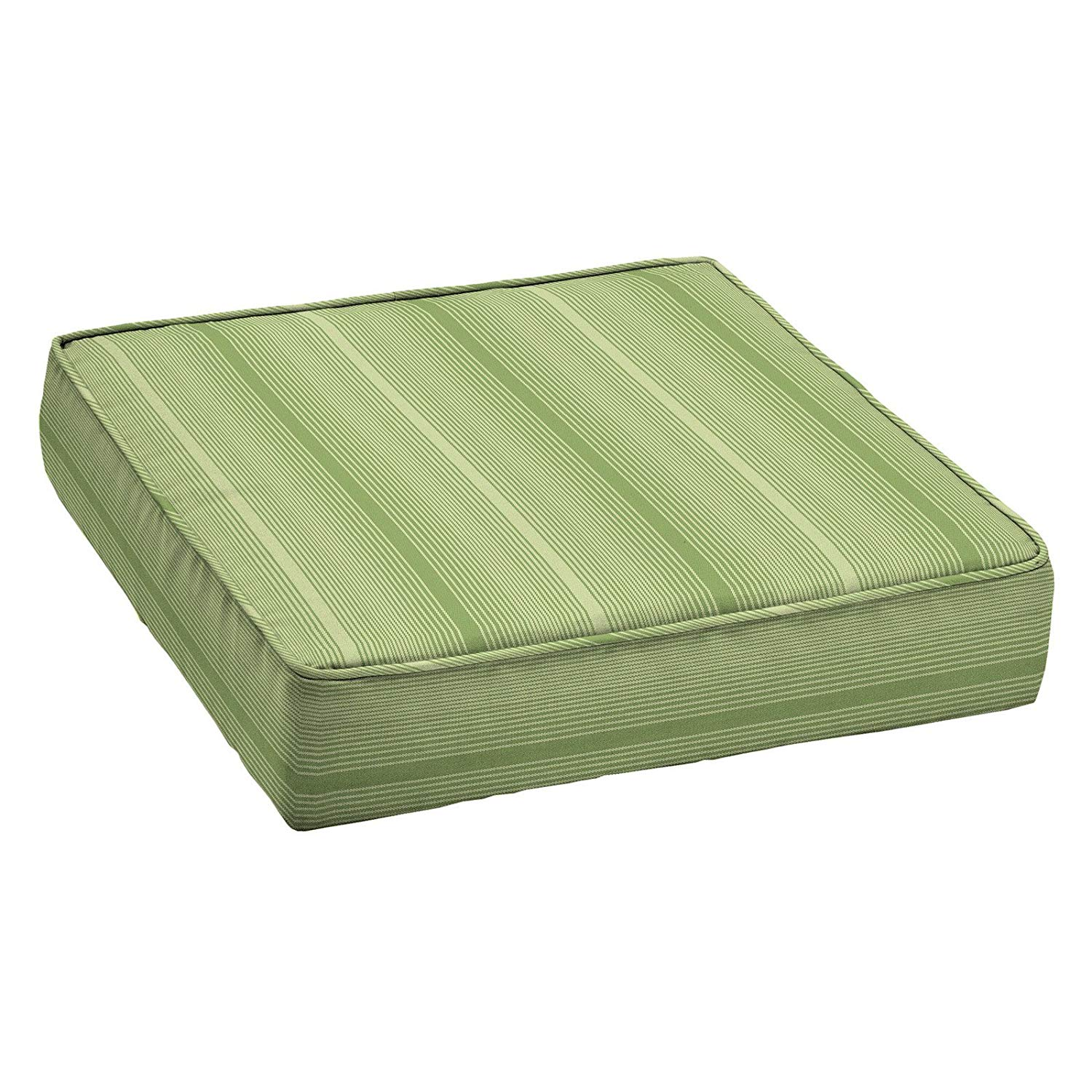 Home Improvements Green Stripe Premium Acrylic 24 x 24 Outdoor Deep Seat Cushion Patio Deep Seating Chair Cushion