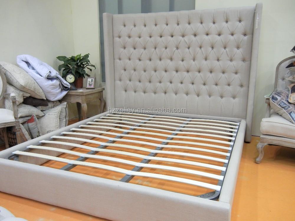 Chinese Houten Bed : Chinese fabriek prijs hot koop massief houten dubbele gestoffeerde