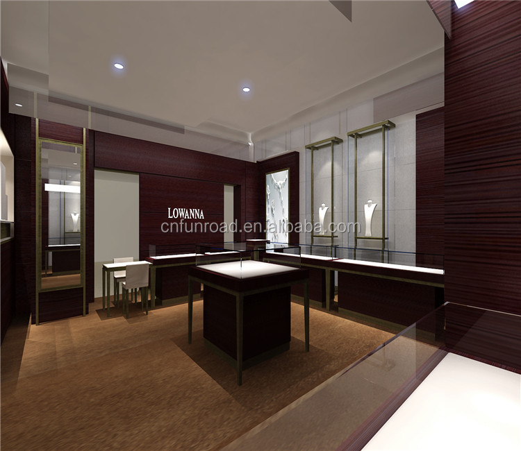 custom 3d rendering shop design exhibition showroom glass display furniture store fitting jewelry showcase
