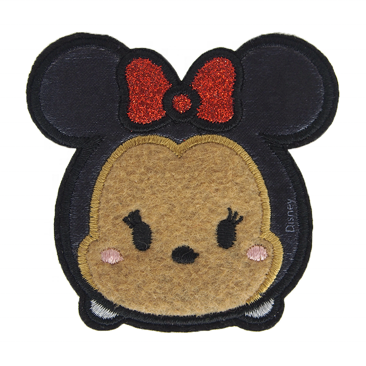 Glitter Embroidered Felt Mickey Applique