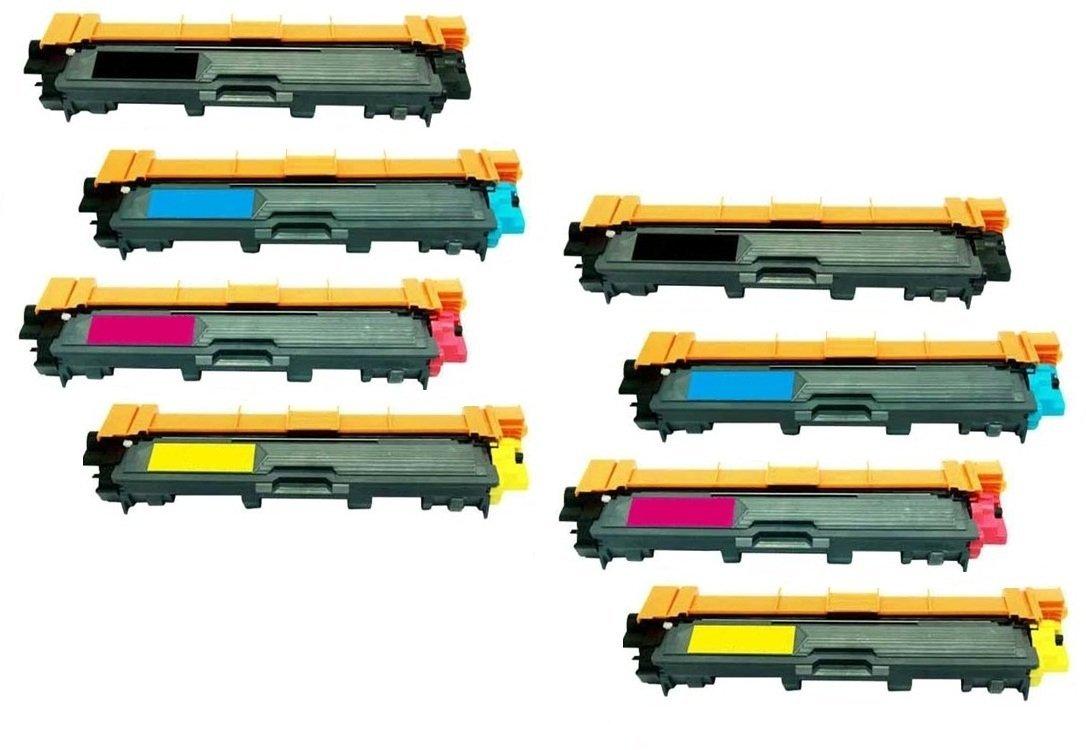 AZ Supplies © Premium OEM Quality Compatible With Brother TN221 – TN225 High Yield Toner Cartridges 8PK Color Set Compatible With Brother HL-3140, HL-3140CW, HL-3170, HL-3170CDW, MFC-9130, MFC-9130CW, MFC-9330, MFC-9330-CDW, MFC-9340, MFC-9340CDW Printers (2x Black, 2x Cyan, 2x Magenta, 2x Yellow)