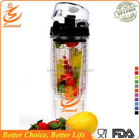 25oz custom logo friut infuser plastic water bottle with bpa free with private label