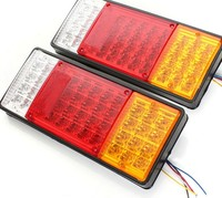 44LED Led Tail Lights with Turn Signal 12V Three Color Truck Tail Light