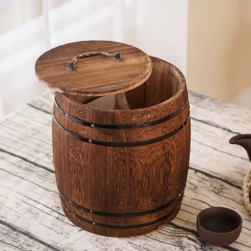 Custom Made big size or mini cheap price wooden barrel for coffee or wine