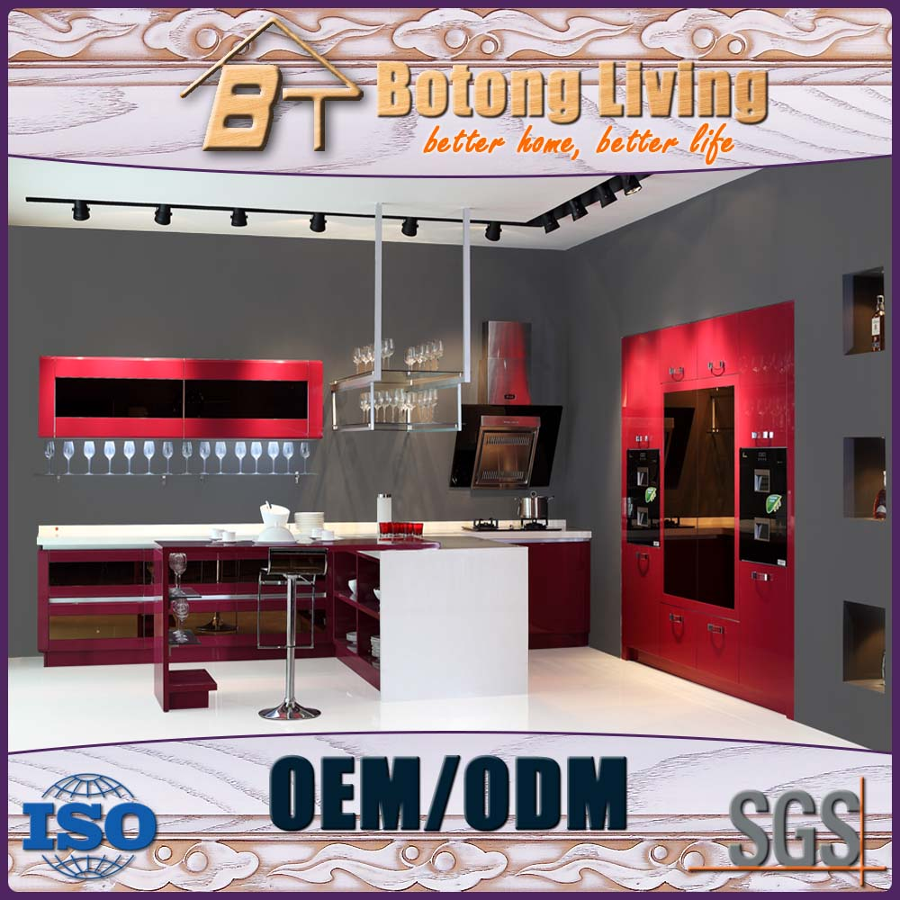 Botong Living KC-SWW08 optical displayed commercial kitchen cabinet for bar and club