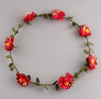 Hecho a mano flor diadema flor pelo accesorios pelo flor boda coronas 7902f9f094c