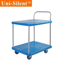 Uni-Silent 150kg Idear Factory Price Hand Truck Lightweight Trolley Platform Cart Cargo Trolley Suppliers PLA150Y-T2