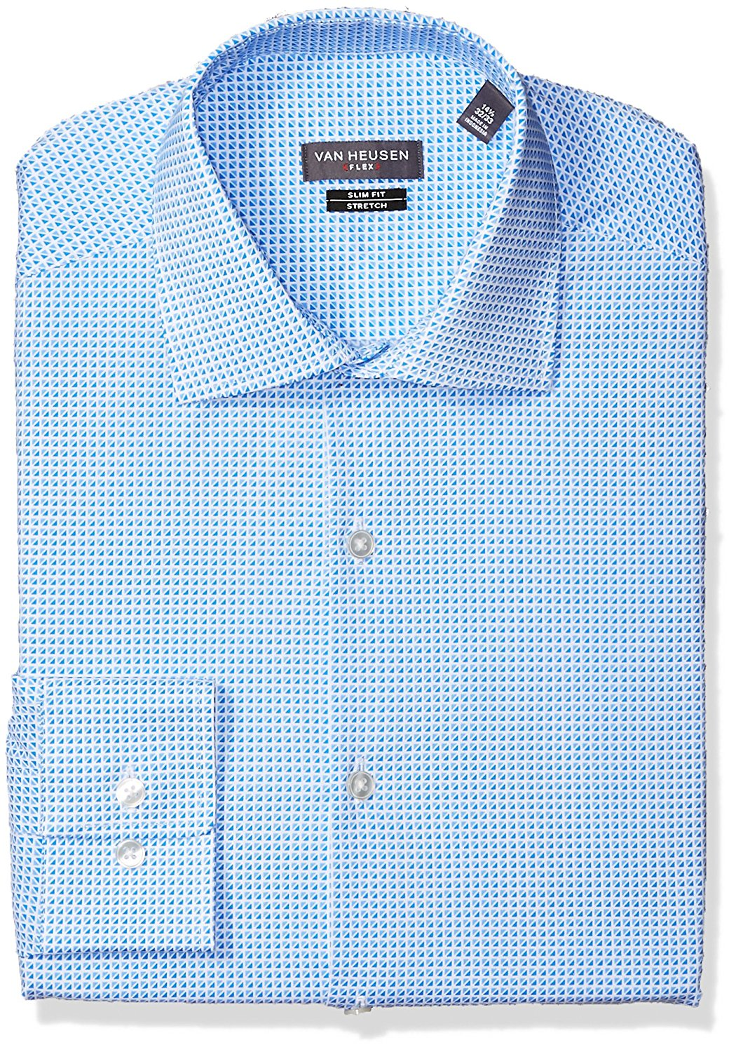 95cf0d0c5b8c Get Quotations · Van Heusen Men's Dress Shirt Flex Collar Slim Fit Print