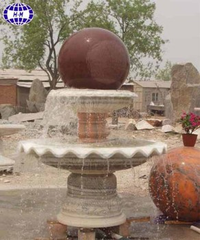 China Nature Marble Floating Ball Water Fountain
