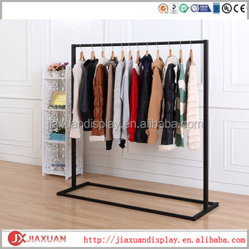 black metal hanging clothes rack black clothing displays clothing display rack