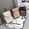 Glitter Cross Sling Hobo Phone Handbag Women Single Shoulder Chain Bag