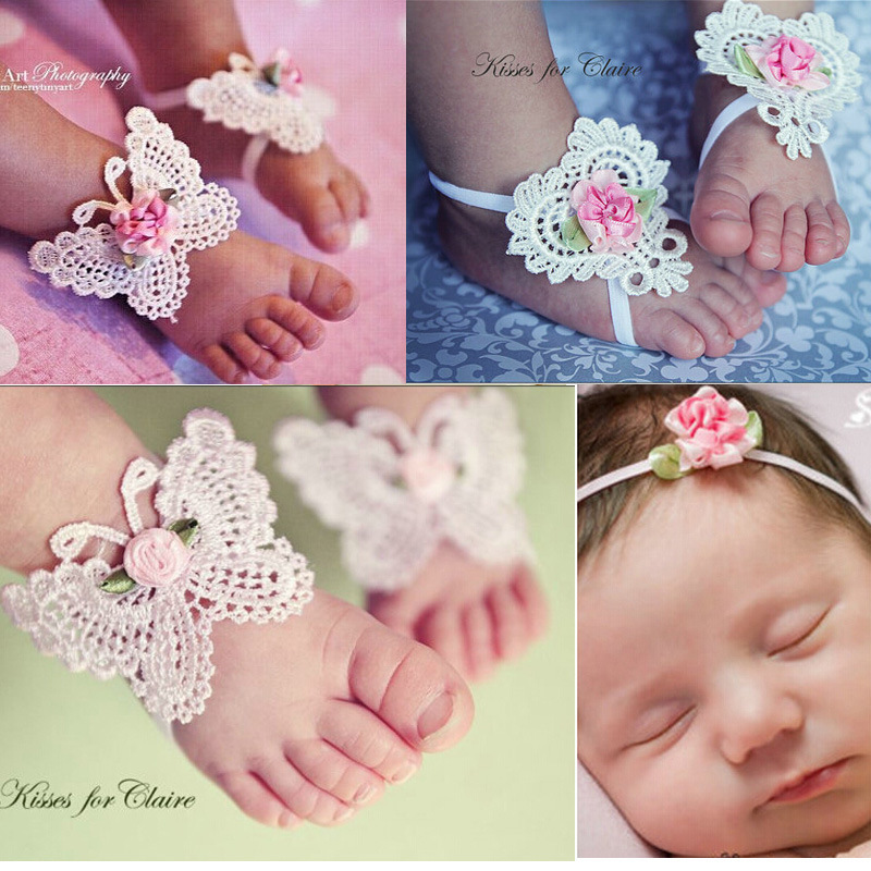 Wholesale kids anklets baby butterfly flower shoes anklets
