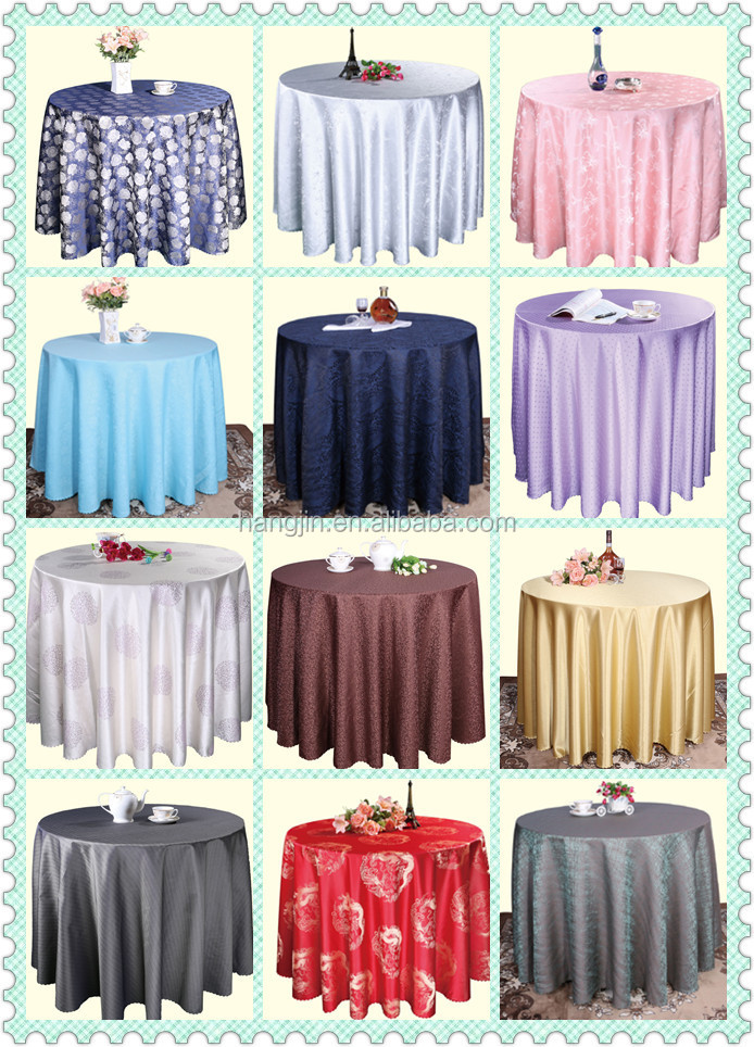Romantic Wedding Party Use White Satin Table Cloth Round Banquet