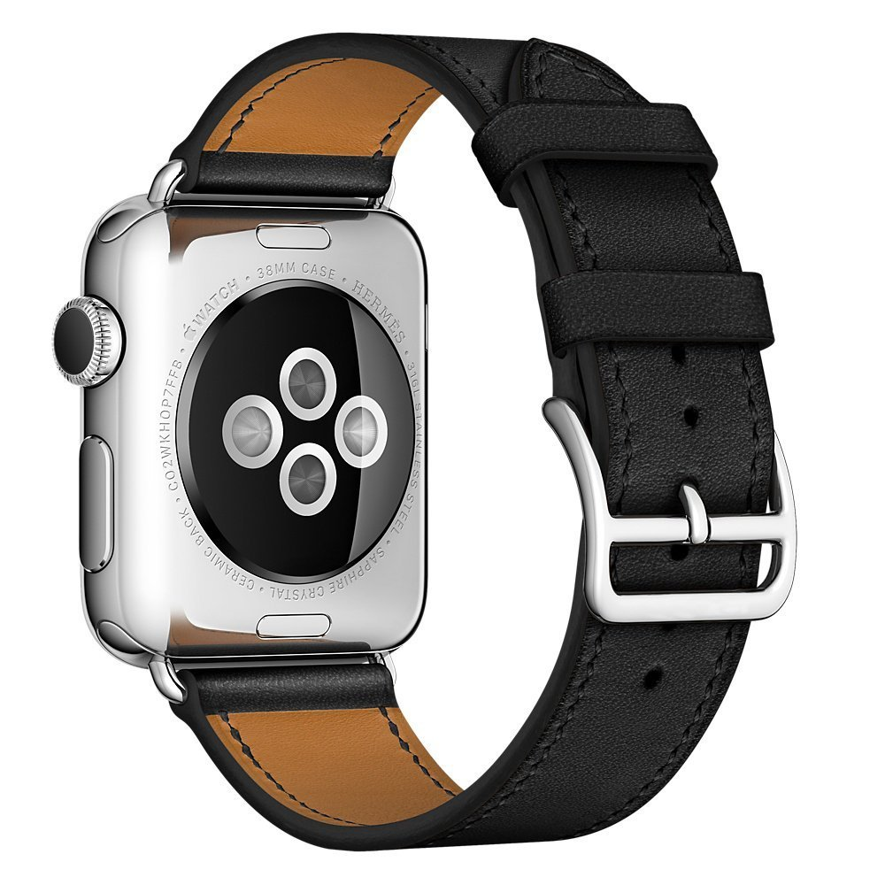 Apple Watch Band, 42mm SENTER® Luxury Genuine Leather watch Band 42mm Apple Watch Extra Long Genuine Leather Band, Single Tour Bracelet for 42mm Apple Watch , Étain