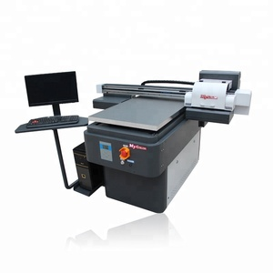 UV6090-10 UV Flatbed Printer with Rotary System(round materials printing)