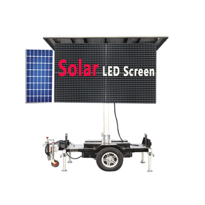 China Outdoor IP65 Nationstar full color ICB2053 lift car LED display Solar panel 1000mm*2000mm mobile LED advertising screen