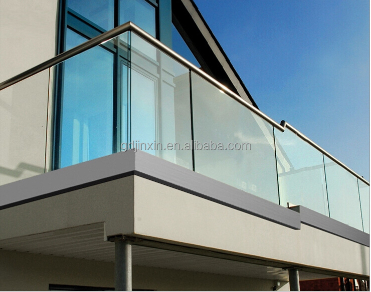 Modern Design Exterior Stainless Steel Frameless Glass Balcony