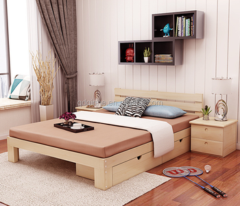 Hot Sale Solid Wood Bed Simple Modern Style Hotel Bed Cheap High Quality Strong Bed Buy Cheap Beds For Salehighquality Hotel Bedwooden Single Bed