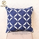 Oriental Customized Made Circle And Square Combination Designed Pillow Cover Creative Blue Embroidered Customized