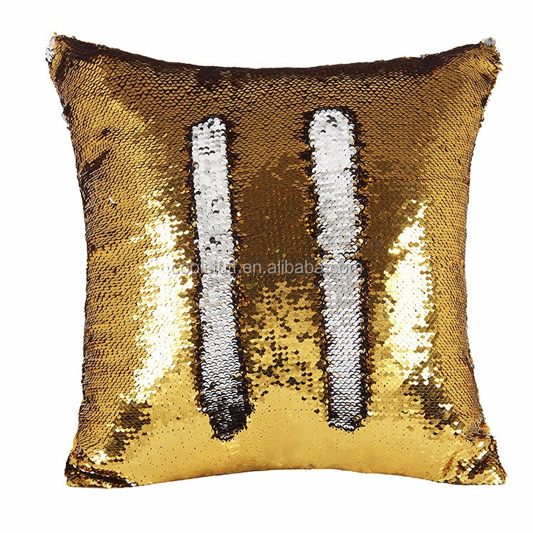 Hot Selling Stylish Mermaid Pilow Cover Beautiful Gold And