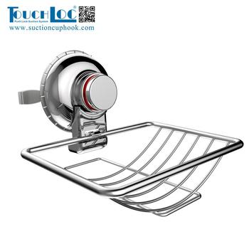Super Power Vacuum Suction Cup Non-slip Plastic Soap Dishes/Soap Basket holder for showers
