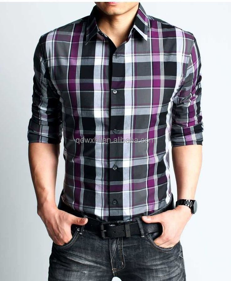 2015 New Model Latest Cotton Plaid Check Shirt Design Long Sleeve ...