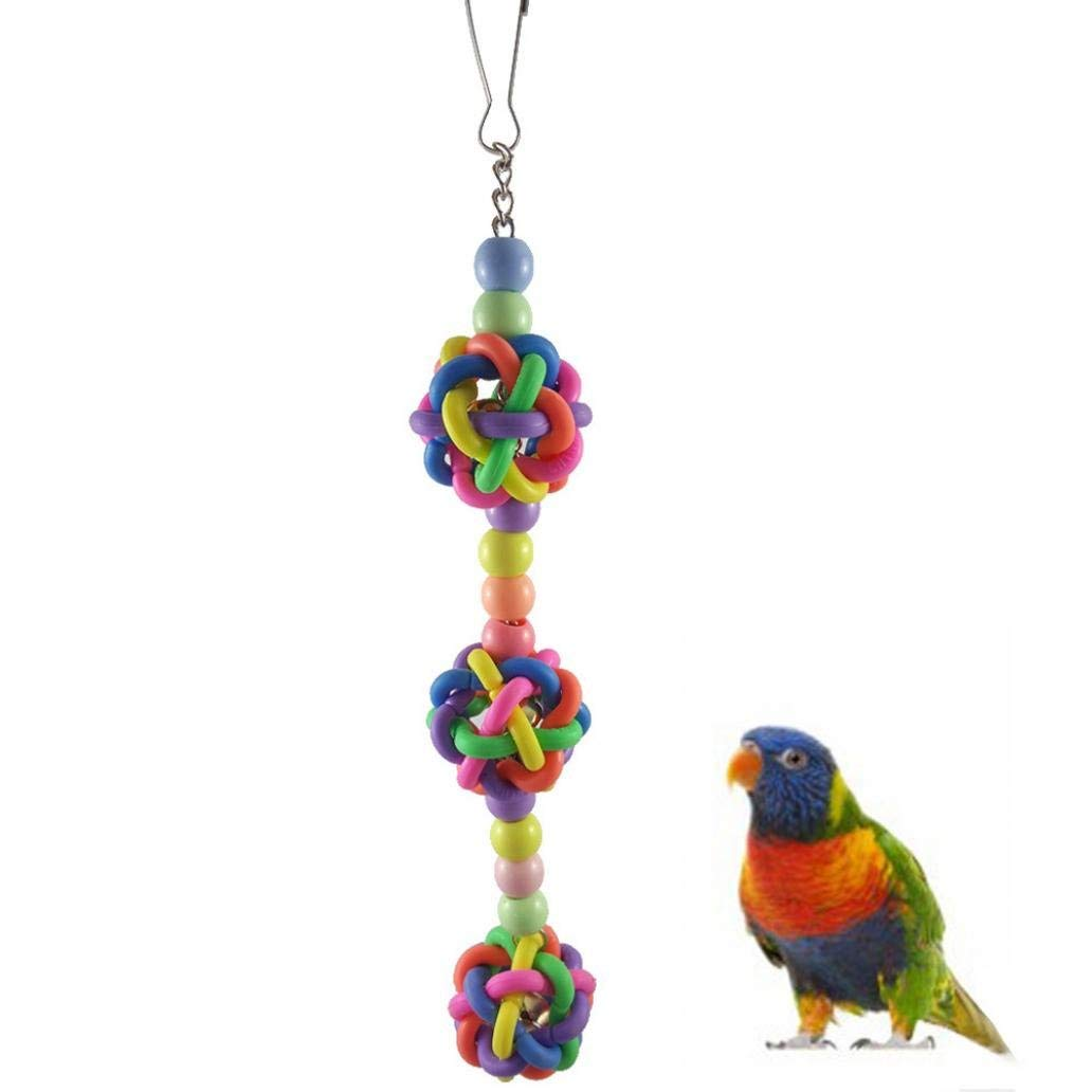 Bird Supplies 1 Pcs Birds Toys Large Parrot Toys Colorful Chewing Ladder Wooden Singing Cockatiel Funny Swing Pet Toy Accessories Bird Supplie Beautiful And Charming Home & Garden