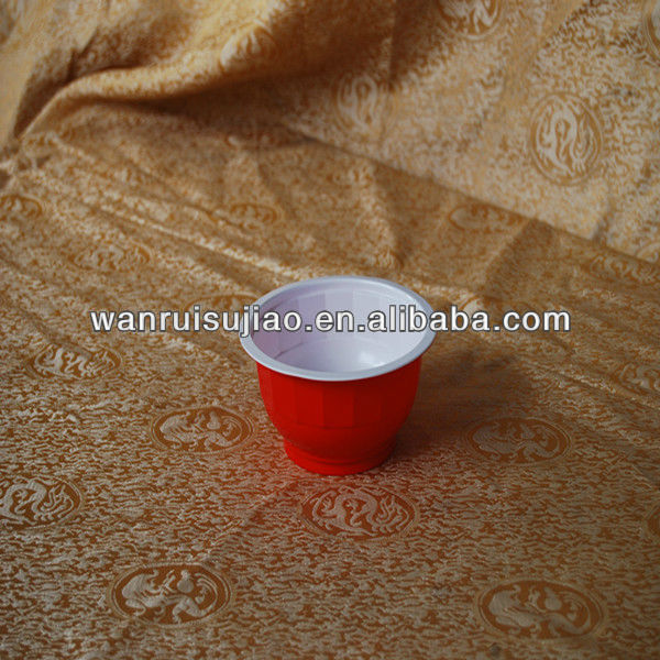300(10oz)Red Plastic Soup Bowl , beer pong cup
