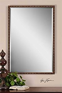 Ambient Distressed Rusty Brown With Silver Undertones Modern Rectangular Mirrors