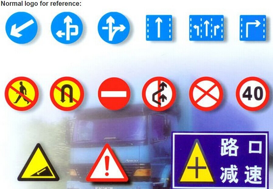 Traffic Guide Sign Bypass Flow Sign Reflective Arrow Road Safety ...