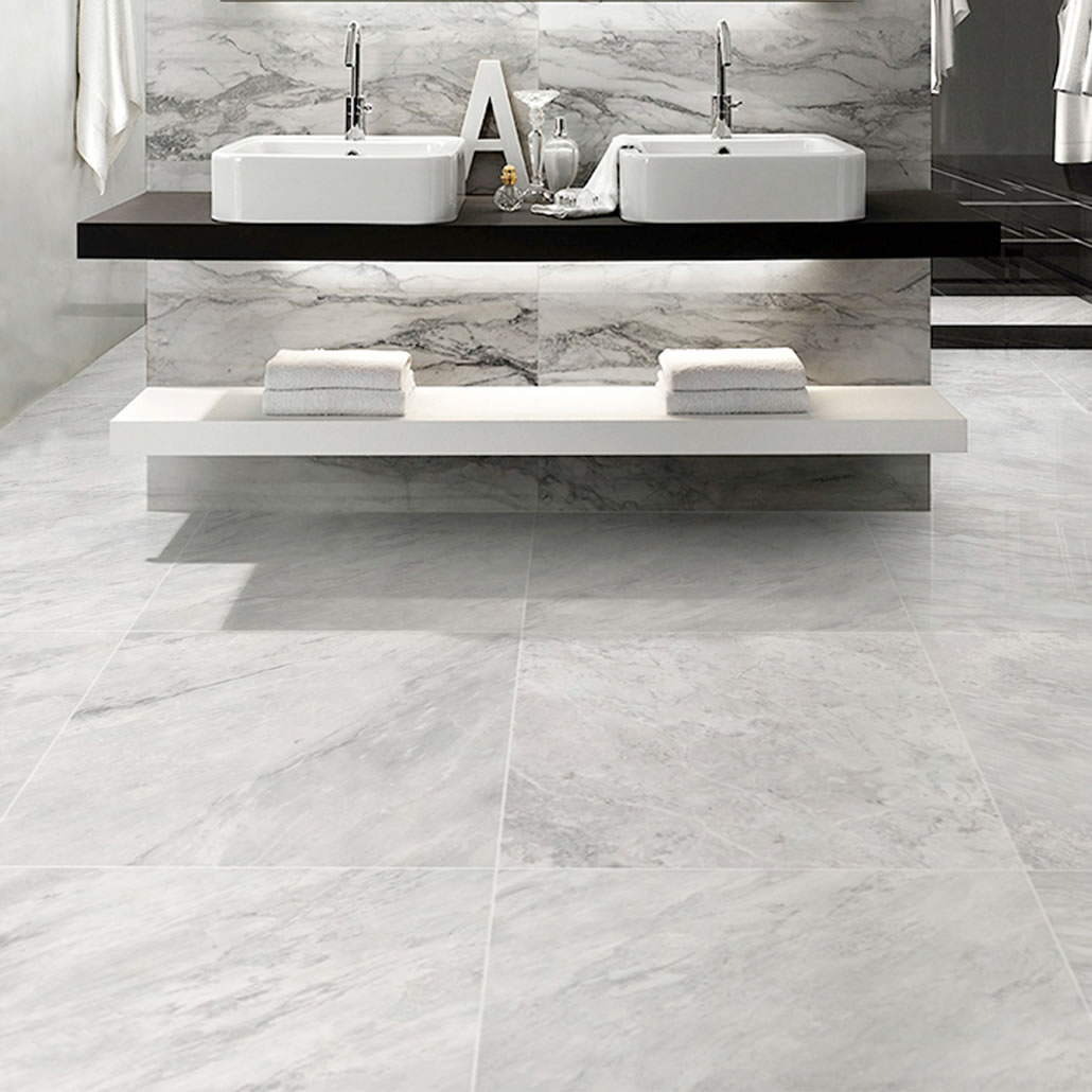 Carrara Marble Non Slip Matt Porcelain Large White High Gloss Floor Tile 600 X1200 Mm