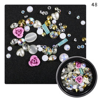 Wholesale Beauty Korea 3D Jewelry Designs Alloy Glitter Nail Art Crystal Rhinestone for Nail Art Decoration Accessories