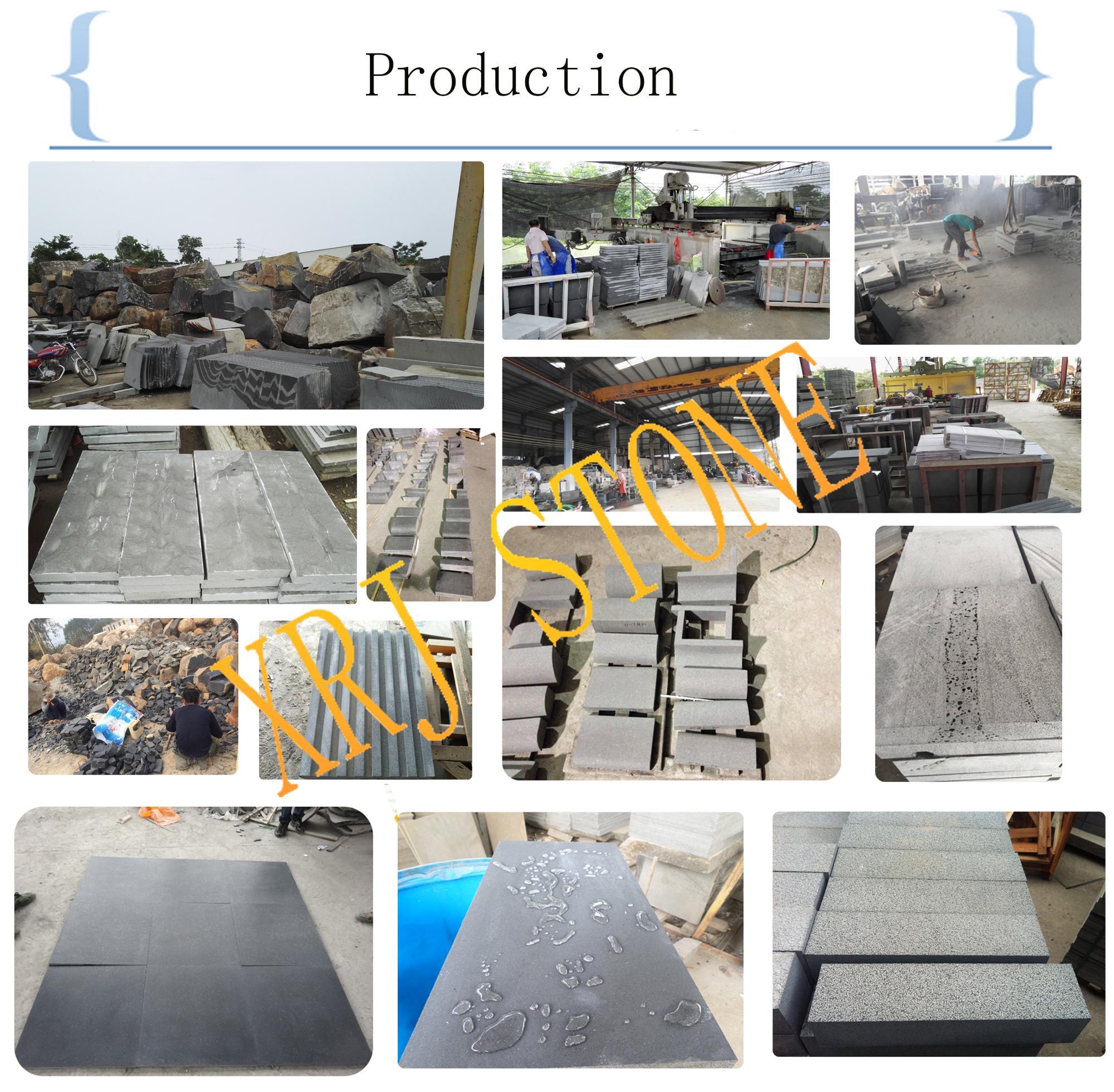 China hainan black basalt stone