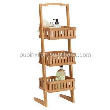 Nieuwe Ontwerp Producten Bamboe Mand Opslag Toren 3 Tier Badkamer ...