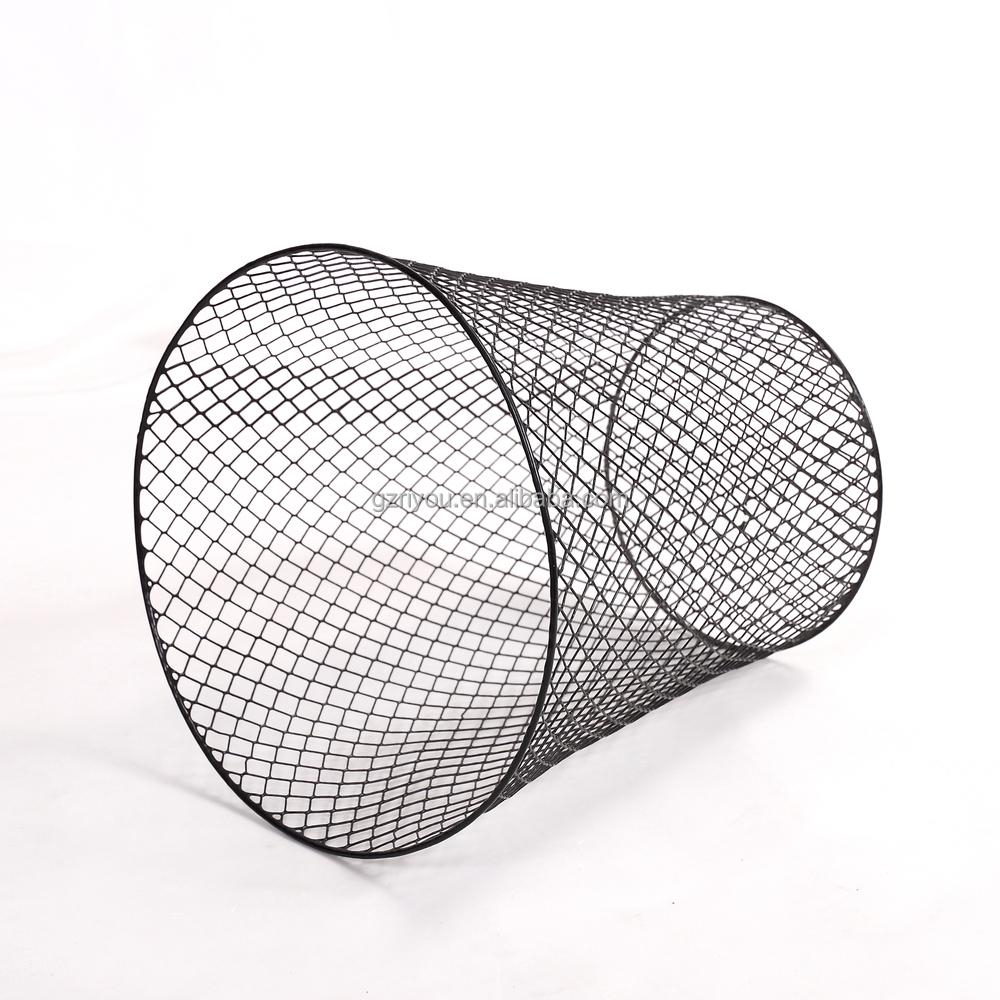 Wire Waste Basket home usage floor stand metal household bulk metal wire wire waste