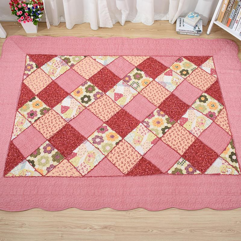 Anti slip algodón patchwork anti fatiga cocina estera, tapetes ...